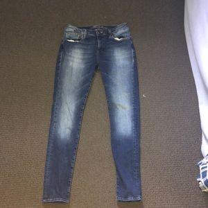 mavi mid-ride skinny jeans